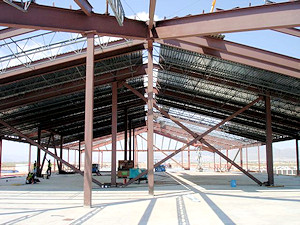 Myrex Industries furnished the fabricated steel for the Fort Bliss Brigade-Battalion Headquarters