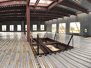 Steel fabrication for the new Kelsey-Seybold Cypress Clinic in Houston Texas, by Myrex Industries